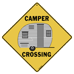Camper Crossing Sign