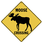 Moose Silhouette Crossing Sign test8
