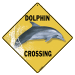 Dolphin Crossing Sign