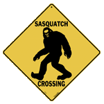 Sasquatch Shilouette Crossing