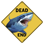 Shark Dead End Sign