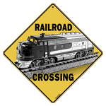 Railroad (Train) Crossing Sign