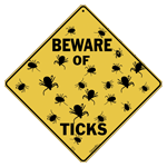 Beware of Ticks Sign