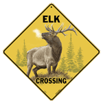 Elk Crossing Sign test8