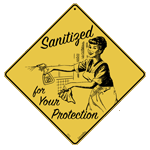 Vintage Sanitized Sign
