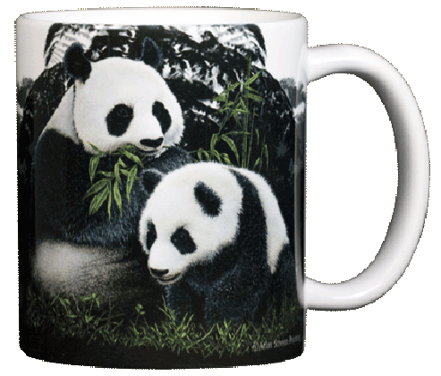 Giant Pandas Ceramic Mug - Back