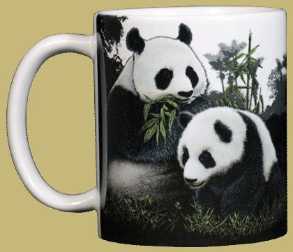 Giant Pandas Ceramic Mug - Front