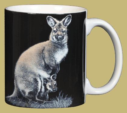 Wallaby Ceramic Mug - Back