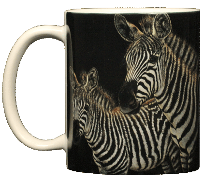 Zebra Pair Ceramic Mug - Front