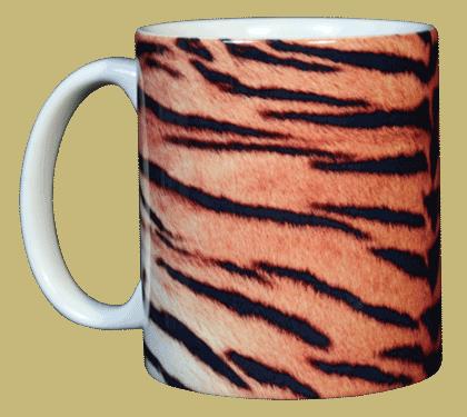 Tiger Stripes Ceramic Mug - Front