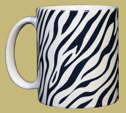 Zebra Stripes Ceramic Mug - Front