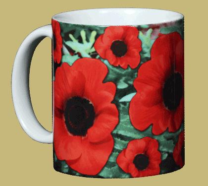 Poppies Ceramic Mug - Front