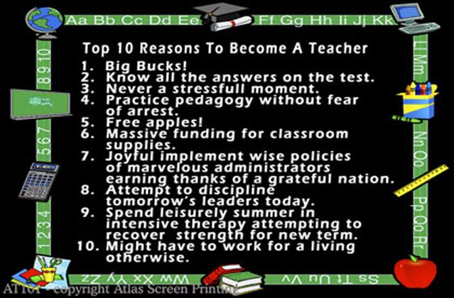 """Top 10 Reasons Teacher 2"""" X 3 Magnet"""