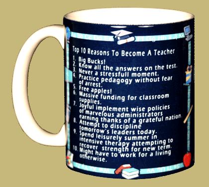 Top 10 Teacher Ceramic Mug - Front