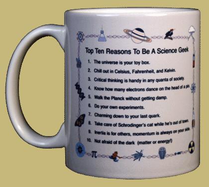 Top Ten Geek Ceramic Mug - Front