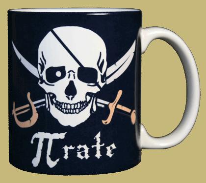 Pi-Rate Ceramic Mug - Back