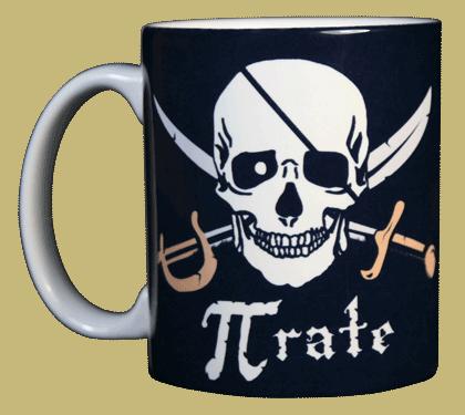 Pi-Rate Ceramic Mug - Front