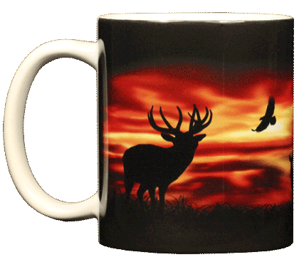 Twilight Elk Ceramic Mug - Front