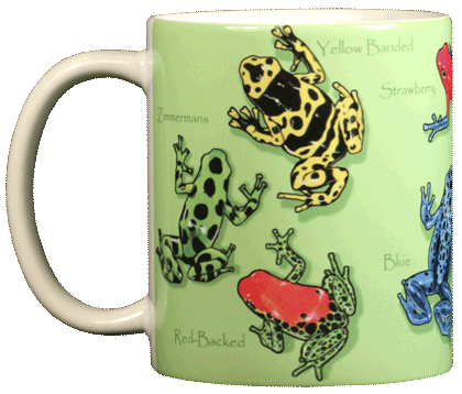 Dart Frogs Ceramic Mug - Front
