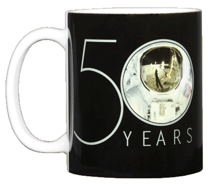 Apollo 11 Astronaut 50th Ceramic Mug - Front