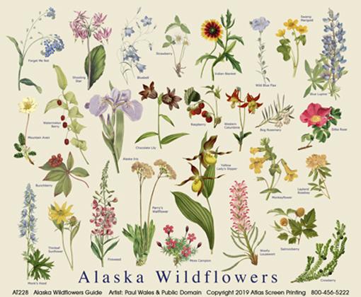 Alaska Wildflowers Tote Bag