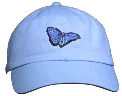 Morpho Embroidered Cap