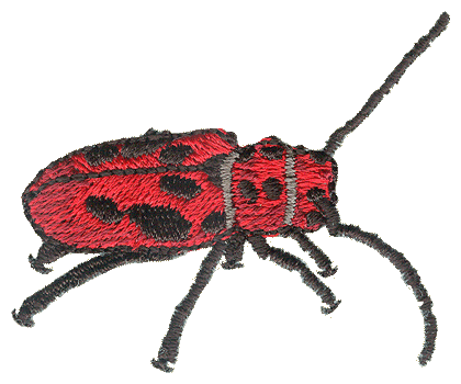 Red Milkweed Beetle Embroidered Cap