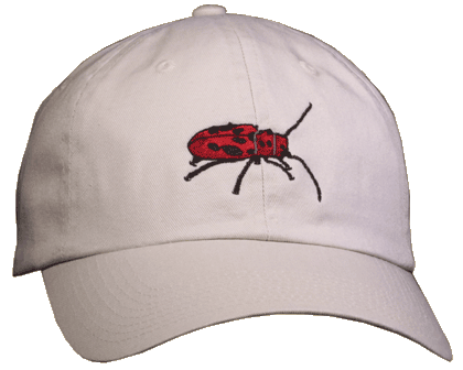 Red Milkweed Beetle Embroidered Cap