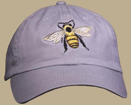 Honey Bee Embroidered Cap