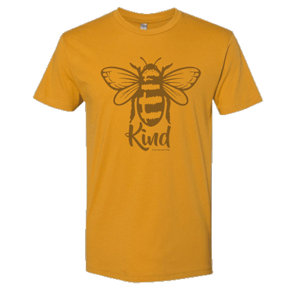 Bee Kind Unisex T-shirt - Next Level Antique Gold