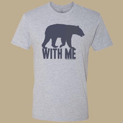 Bear With Me Unisex T-shirt - Next Level Heather Gray