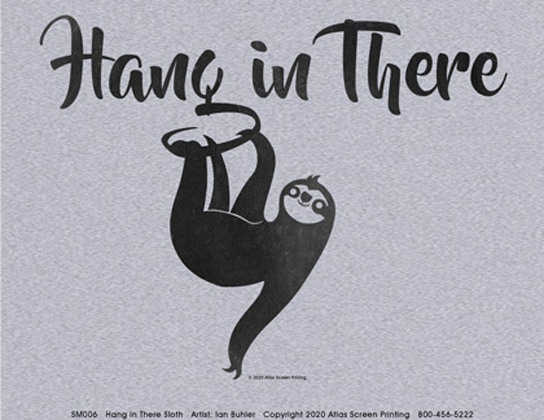 Hang In There Sloth Ladies T-shirt