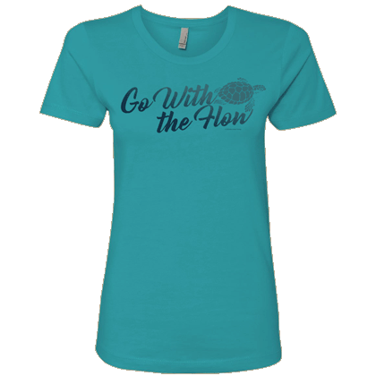 Go With the Flow Ladies T-shirt - Next Level Tahiti Blue