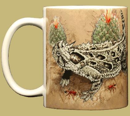 Horned Lizard Ceramic Mug - Front