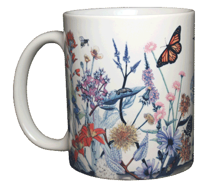 Vintage Wildflowers Ceramic Mug - Front