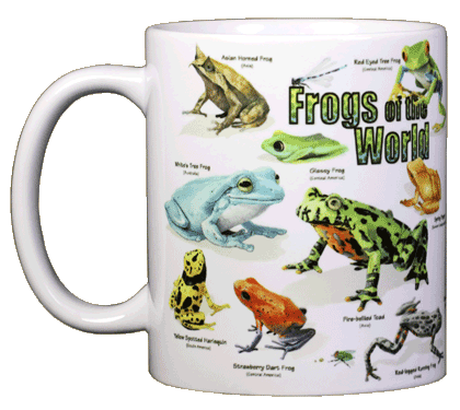 Frogs of the World Ceramic Mug - Front
