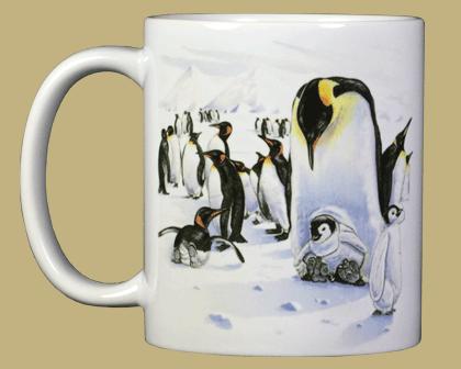 Penguins Ceramic Mug - Front