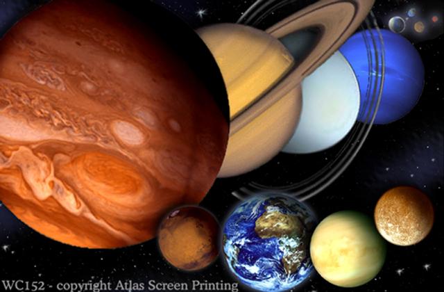"Planets & Dwarf Planets 2"" X 3"" Magnet"