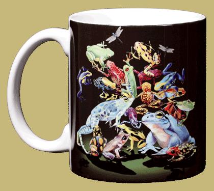 Rainforest Frogs Ceramic Mug