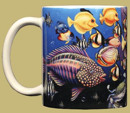 Fish Fiesta Ceramic Mug - Front