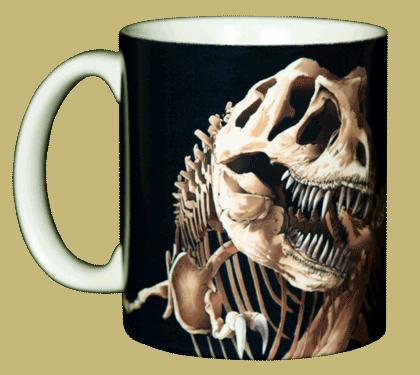 T-Rex Skeleton Ceramic Mug - Front