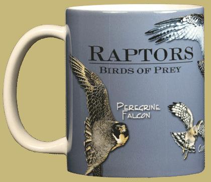 Birds of Prey Ceramic Mug - Front