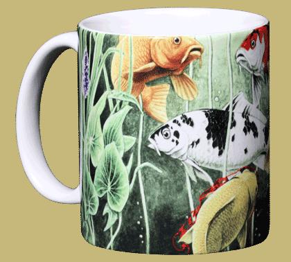 Koi Pond Ceramic Mug - Front