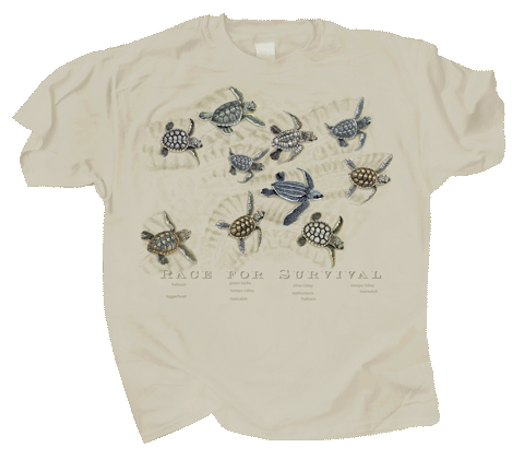 Race For Survival Adult T-shirt (Sand) - Front