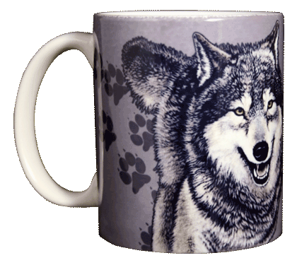 Wolf Trax Ceramic Mug
