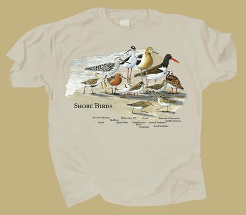 Shorebirds Adult T-shirt