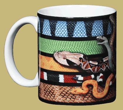 Venomous Snakes Ceramic Mug - Front