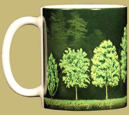 Trees Ceramic Mug - Front