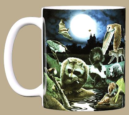 Nightlife Ceramic Mug - Front