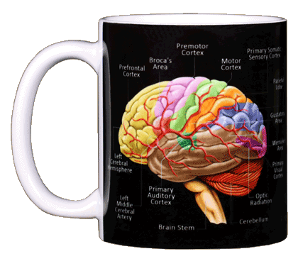Brain Ceramic Mug - Front